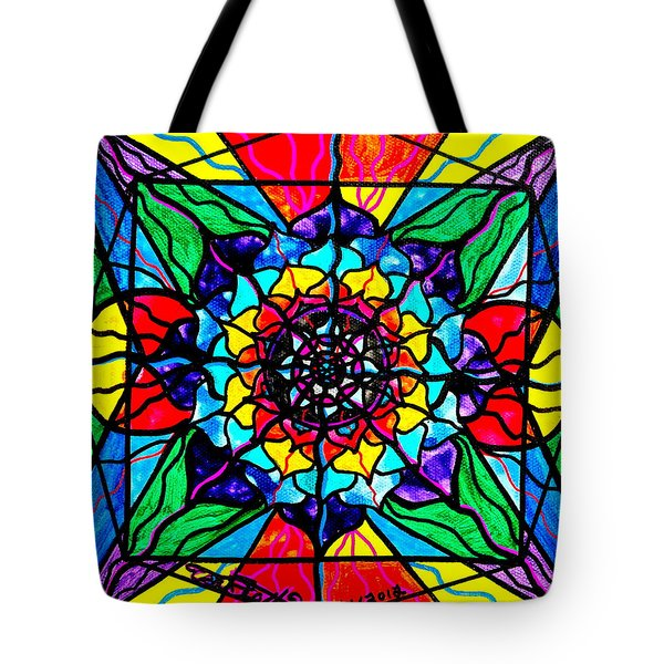 Personal Expansion Tote Bag by Teal Eye  Print Store
