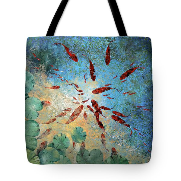 Koi Rotanti Tote Bag by Guido Borelli