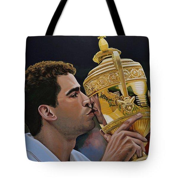 Pete Sampras Tote Bag by Paul Meijering
