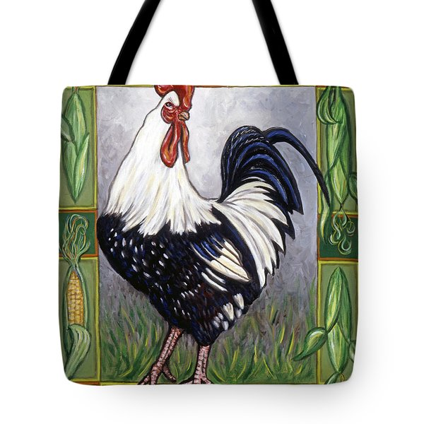 Pete The Rooster Tote Bag by Linda Mears