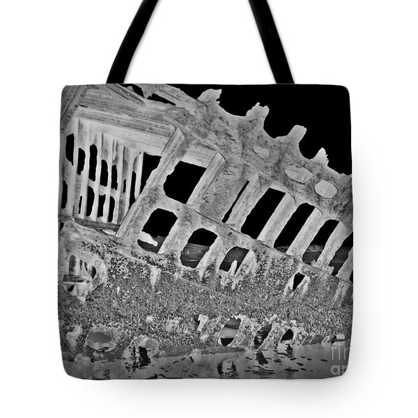 Peter Iredale In Reverse Bw 7 Tote Bag by Chalet Roome-Rigdon