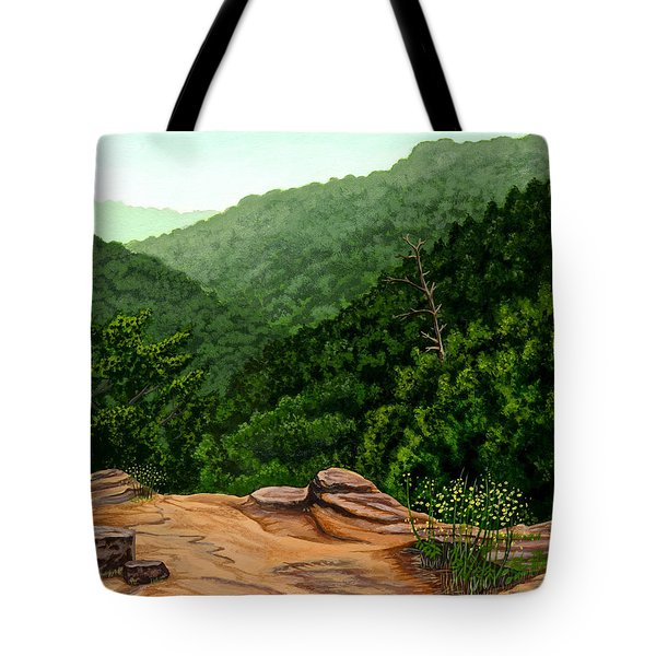 Petit Jean Mountains Tote Bag by Dustin Miller
