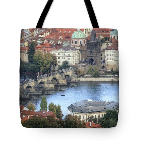 Petrin View Tote Bag by Joan Carroll