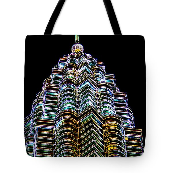 Petronas Tower Tote Bag by Adrian Evans