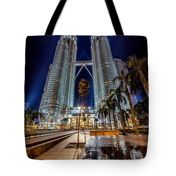 Petronas Twin Towers Tote Bag by Adrian Evans