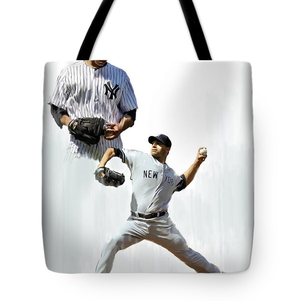 Pettitte  Andy Pettitte Tote Bag by Iconic Images Art Gallery David Pucciarelli