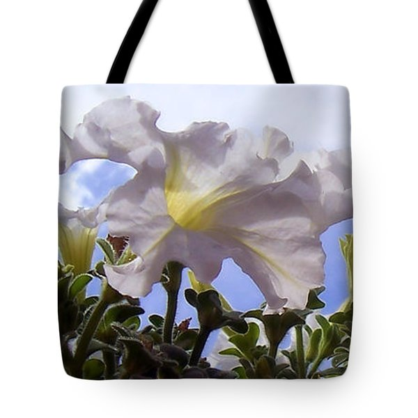 Petunia Sky Tote Bag by Janice Westerberg