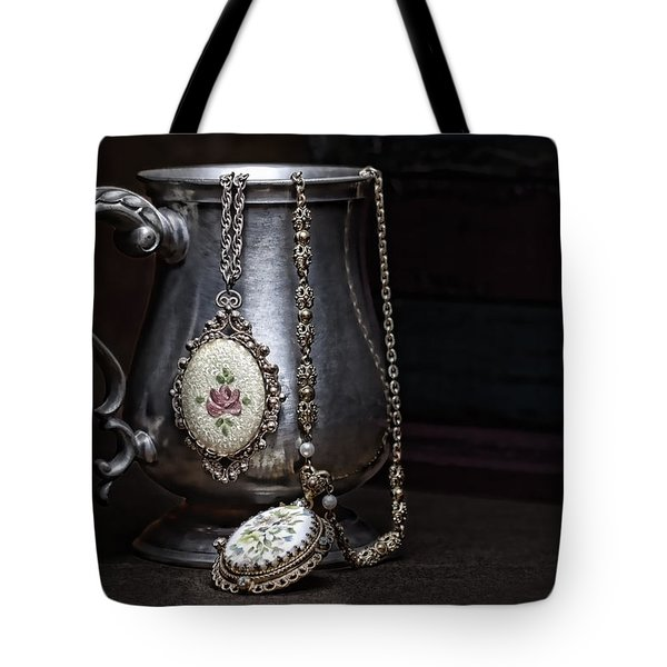 Pewter Cup Still Life Tote Bag by Tom Mc Nemar