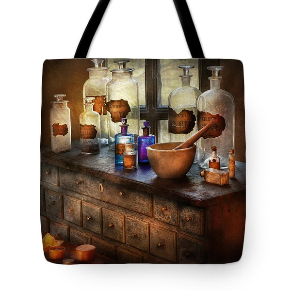 Pharmacist - Medicinal Equipment  Tote Bag by Mike Savad