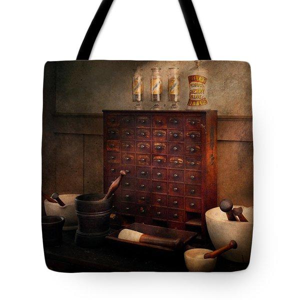 Pharmacist - Organizing Powder Tote Bag by Mike Savad