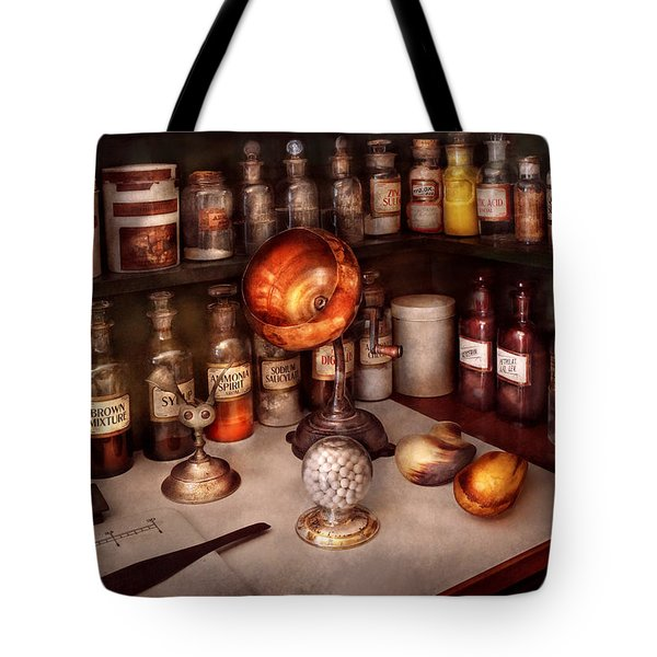 Pharmacy - Items from the specialist Tote Bag by Mike Savad