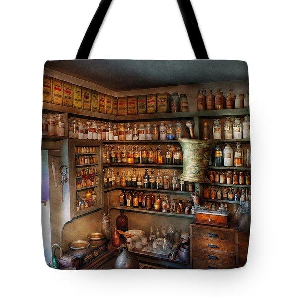 Pharmacy - Medicinal chemistry Tote Bag by Mike Savad