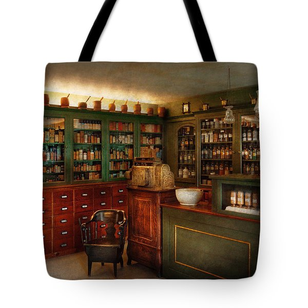 Pharmacy - Patent Medicine Tote Bag by Mike Savad