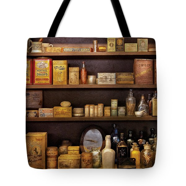 Pharmacy - Quick I Need A Miracle Cure Tote Bag by Mike Savad