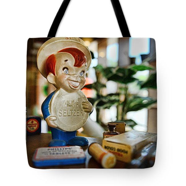 Pharmacy - Speedy Alka Seltzer - Vintage Advertising  Tote Bag by Paul Ward