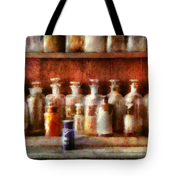 Pharmacy - The Medicine Counter Tote Bag by Mike Savad