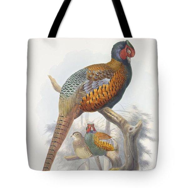 Phasianus Elegans Elegant Pheasant Tote Bag by Daniel Girard Elliot