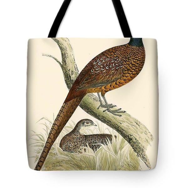 Pheasant Tote Bag by Beverley R Morris