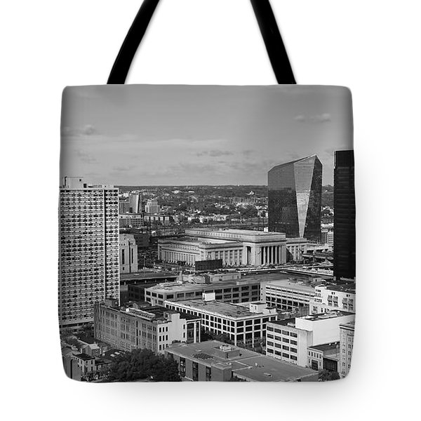 Philadelphia - A View Across The Schuylkill River Tote Bag by Rona Black