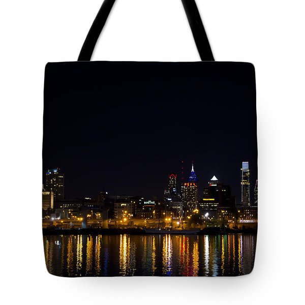 Philadelphia - Bright Lights Big City Tote Bag by Bill Cannon