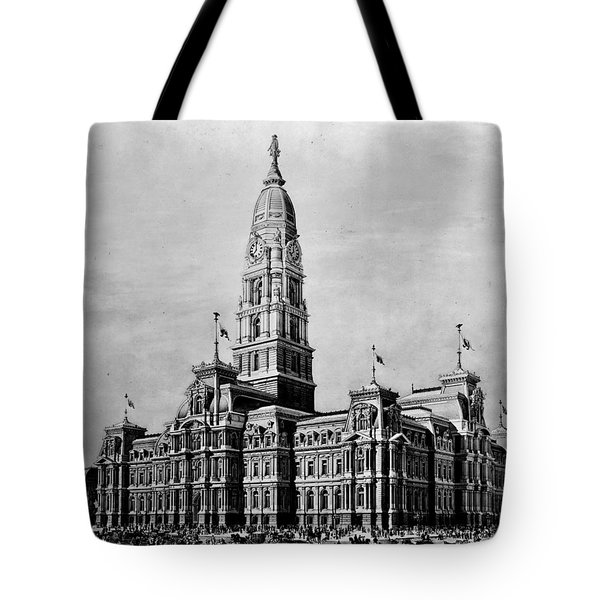 Philadelphia City Hall Tote Bag by Benjamin Yeager