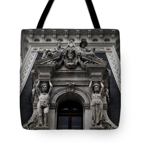 Philadelphia City Hall Dormer Window Tote Bag by Bill Cannon