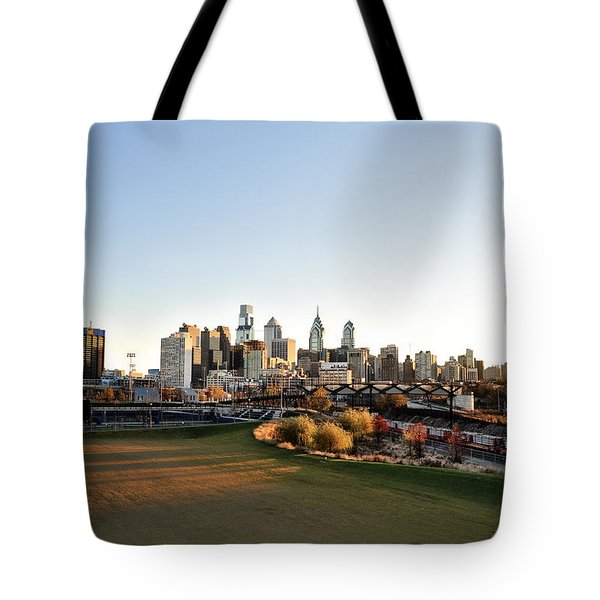 Philadelphia from South Street Tote Bag by Bill Cannon