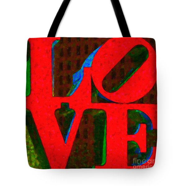 Philadelphia LOVE - Painterly v1 Tote Bag by Wingsdomain Art and Photography