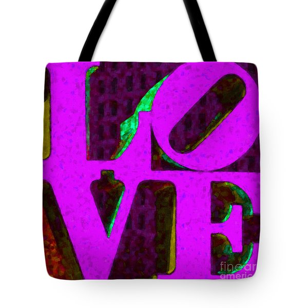 Philadelphia LOVE - Painterly v2 Tote Bag by Wingsdomain Art and Photography
