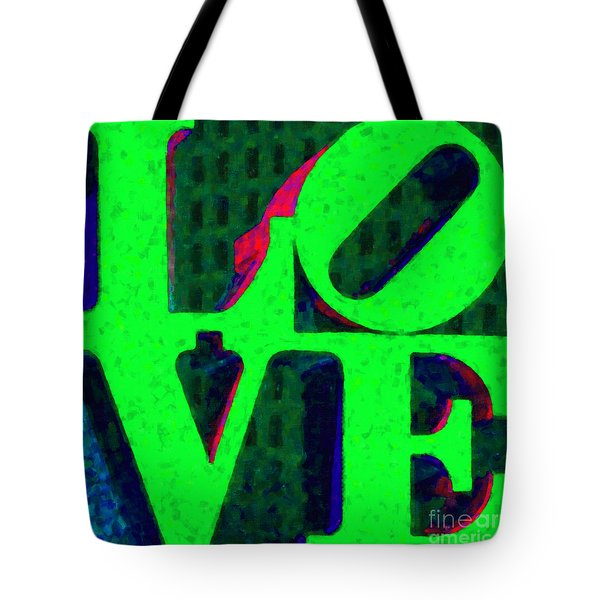 Philadelphia LOVE - Painterly v3 Tote Bag by Wingsdomain Art and Photography