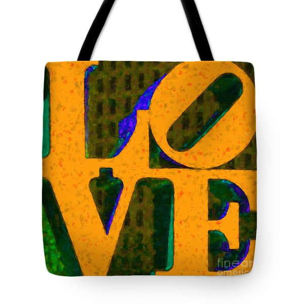 Philadelphia LOVE - Painterly v4 Tote Bag by Wingsdomain Art and Photography