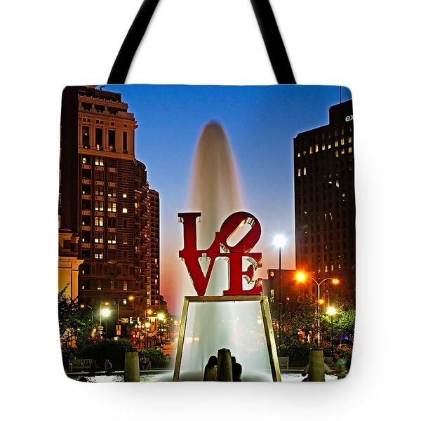 Philadelphia LOVE Park Tote Bag by Nick Zelinsky