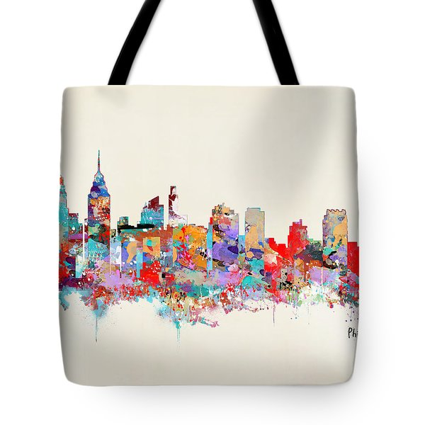 Philadelphia Skyline Tote Bag by Bri B