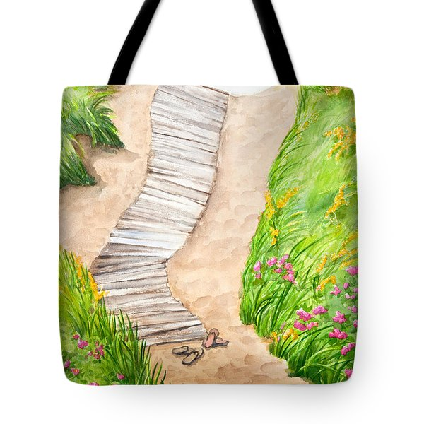 Philbin Beach Path Tote Bag by Michelle Wiarda