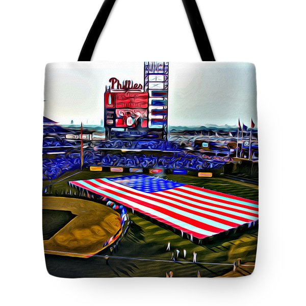 Phillies American Tote Bag by Alice Gipson