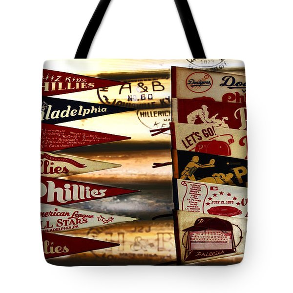 Phillies Pennants Tote Bag by Bill Cannon
