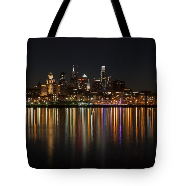Philly Night Tote Bag by Jennifer Ancker