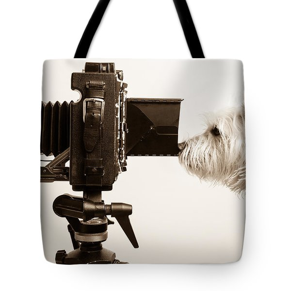 Pho Dog Grapher Tote Bag by Edward Fielding