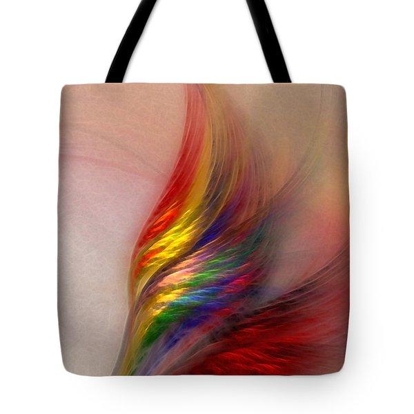 Phoenix-Abstract Art Tote Bag by Karin Kuhlmann