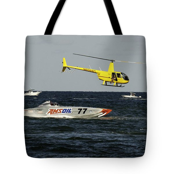 Photgrapher At Work Tote Bag by Bruce Bain