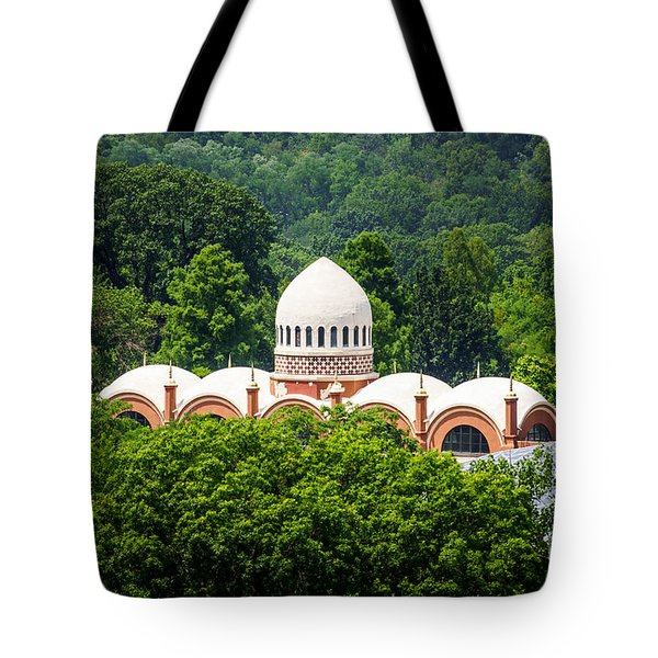 Photo of Elephant House at Cincinnati Zoo Tote Bag by Paul Velgos