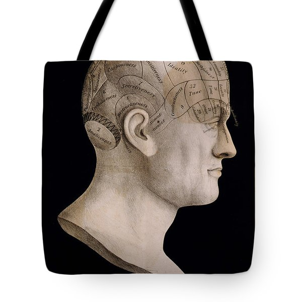 Phrenology Tote Bag by Nomad Art And  Design