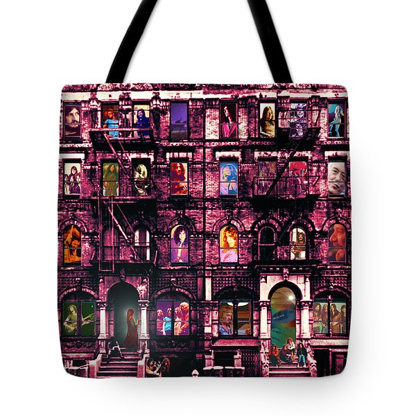Physical Graffitied  Tote Bag by Sara Pixel Pixie