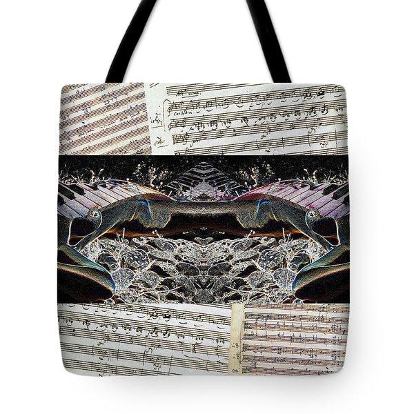 Piano Barojazz Scores Tote Bag by Ha Imako