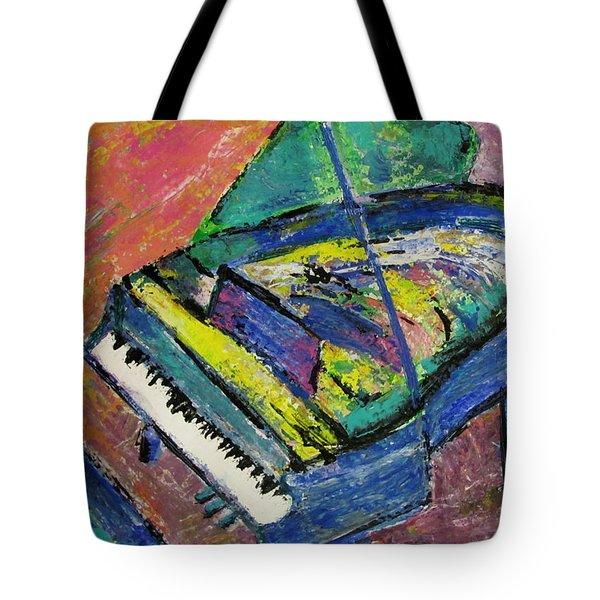 Piano Blue Tote Bag by Anita Burgermeister