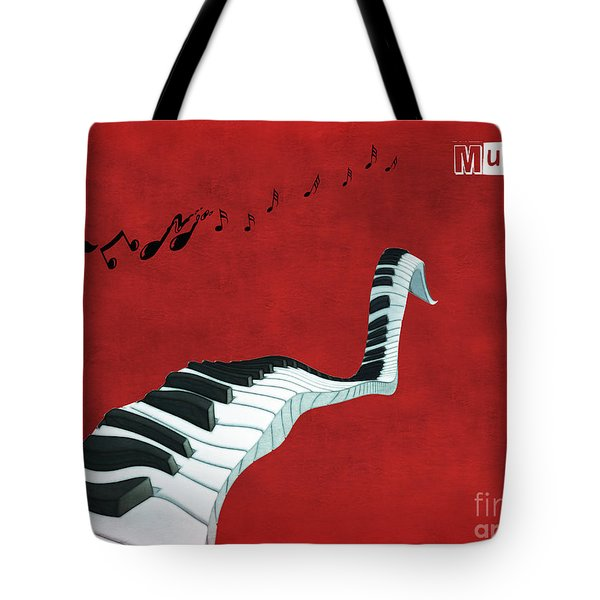 Piano Fun - S01at01 Tote Bag by Variance Collections