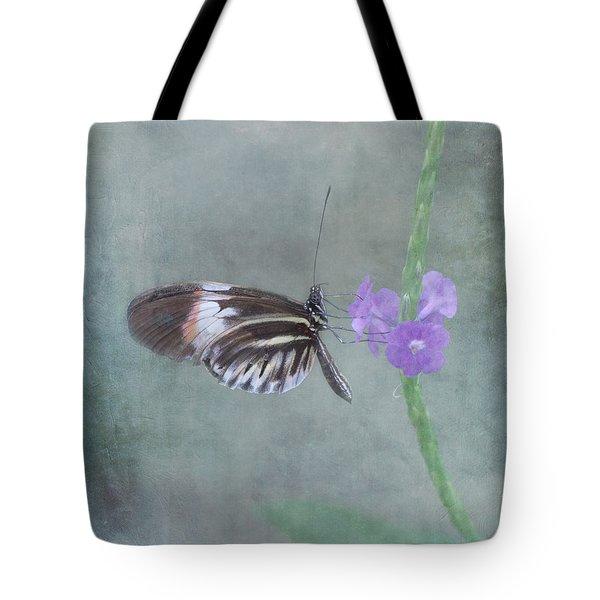 Piano Key Butterfly Tote Bag by Kim Hojnacki