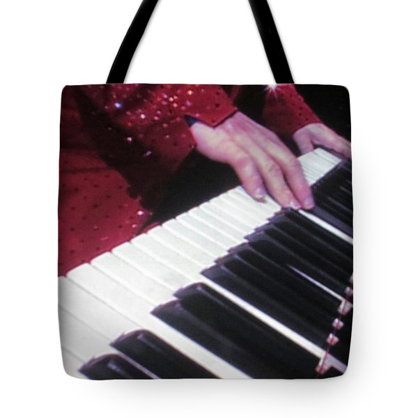 Piano Man at work Tote Bag by Aaron Martens