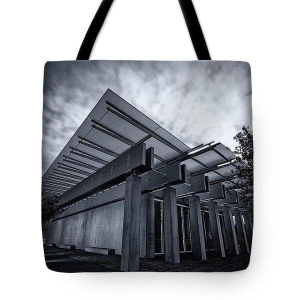 Piano Pavilion Bw Tote Bag by Joan Carroll