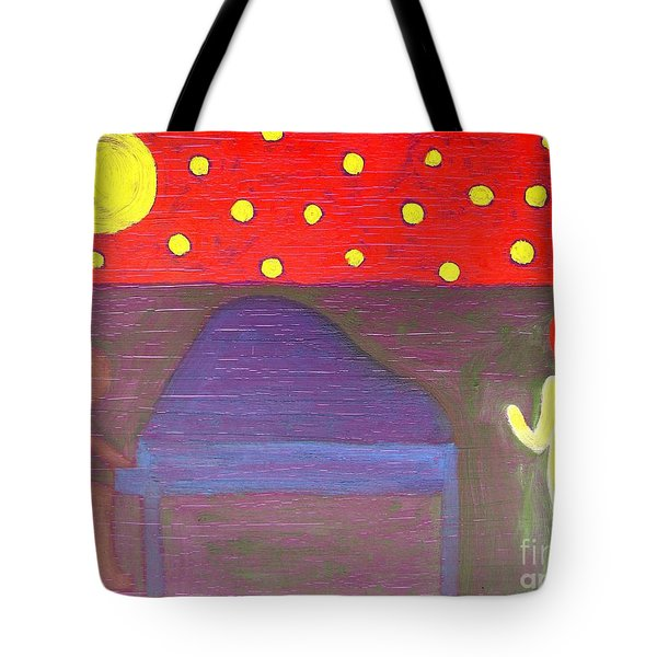 Piano Player And Singer Tote Bag by Patrick J Murphy